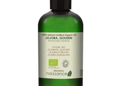 Huile Végétale de Jojoba Dorée BIO – 250ml