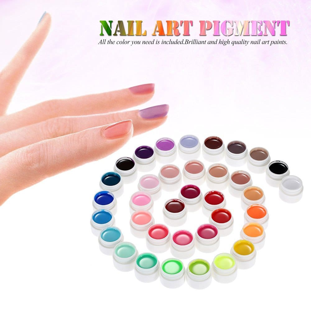 pigments couleurs gels