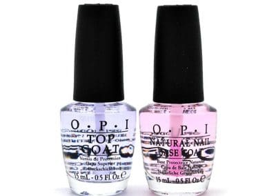 Base et top coat OPI transparent – 2*15ml – 14,16€