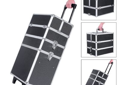 Malette manucure trolley Songmics 4-en-1 aluminium
