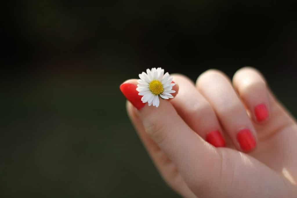 La peinture sur vos doigts